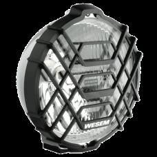 Фара дальнего света H02, 183 мм (хром, с решеткой)