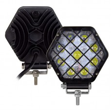 Фара LED шестиугольная 27W, spot